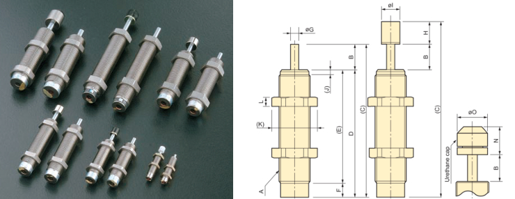 FK Series Small fixed shock absorbers